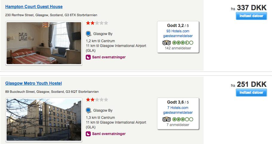 billige hoteller glasgow