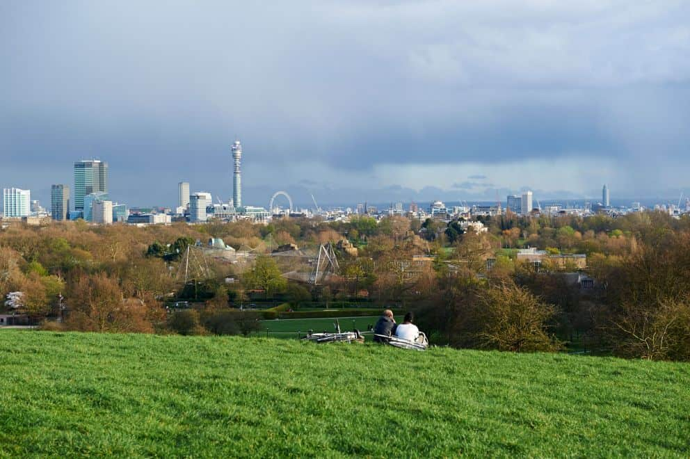 primrose hill london udsigt