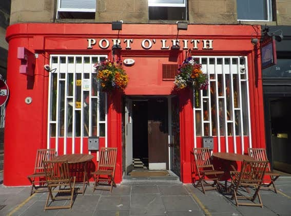 port o'leith edinburgh pub