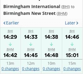 Birmingham lufthavn transport