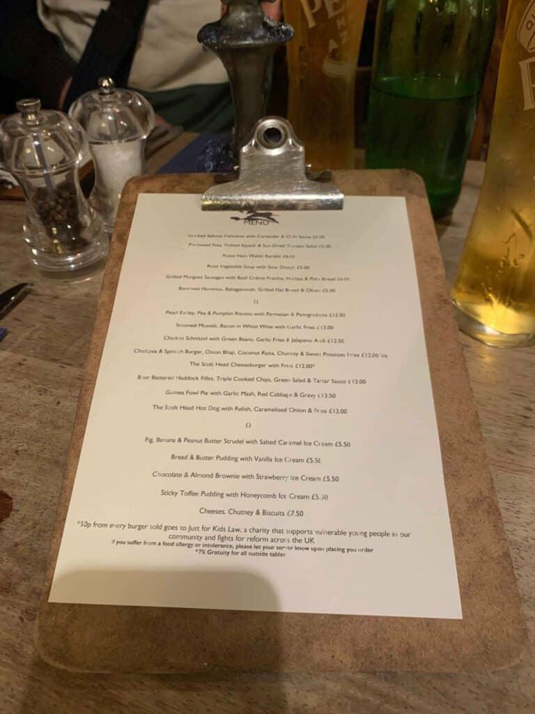 scolt head menu